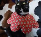 猫のエリザベスカラー フラワー Red