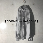 [comme des garcons] switching checked shirt