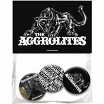 【送料無料】 THE AGGROLITES 缶バッジセット