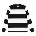 Nautical Rugby Crewneck(White/Black)