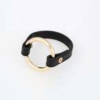 Ring Leather Bracelet