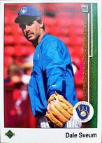 MLBカード 89UPPERDECK Dale Sveum #421 BREWERS