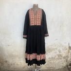 Vintage アフガニスタン 刺繍ワンピース