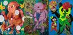 【根本敬ポストカード】オリジナル・ポストカード3枚セット(キャンバス画)ーTakashi Nemoto Original Canvas PostCard