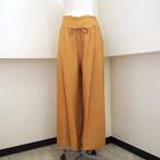 【hippiness】cupro shirring pants (151gold) /【ヒッピネス】キュプラシャーリングパンツ(151ゴールド)