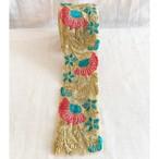 インド刺繍リボン フラワーカラフル刺繍-4(1m)