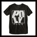 POLYPLUS Vネック ロゴTシャツ ブラック