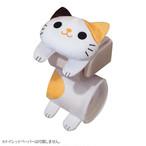 猫 トイレロールペーパーホルダー ミケ
