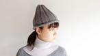 【オーダー製品】No.12の糸を使ったリブ編みニット帽子