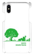 sacra music farm スマホケース(iPhoneX:ホワイト)