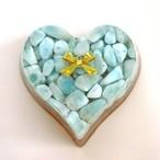 【アウトレット】ハート型オルゴナイト・84~ラリマー(愛と平和の象徴・変化に強くなる・創造性やインスピレーションを高める)~