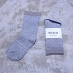 "RoToTo(ロトト) Mocchily Socks ""220N"" M.GRAY R1249"