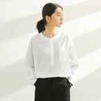 【tops】無地シンプルラウンドネックプルオーバー森ガール長袖シャツ