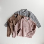 tocoto vintage Knitted cardigan with lace details on the shoulders(全3色/12M,18M,2Y)