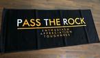 """""""メッセージ""""スポーツタオル PTRP1027 ブラック【PASS THE ROCK】パスザロック"""