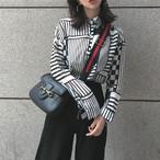 【新作10%off】monotone pattern shirts 3201