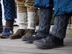 hand knit wool legwarmer
