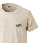 ビール好き LOVE BEER ワンポイント プリントTシャツ