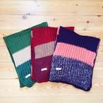 Rundom Border Knit Muffler 《3colors》