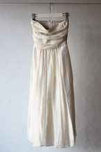 【eicayoshinari】silk organdy maxi skirt-off white