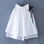 Asymmetry skirt  M(100-115)サイズ  ホワイト