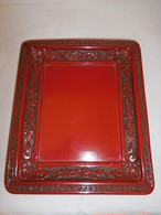 堆朱風盆lacquer ware tray(vermilion)
