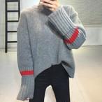 Oversized Sewater Fashion Extra Long Sleeve Turtleneck Pullover Knitting 348