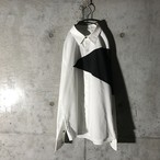 [used] black pointed white shirt