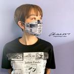 オリジナルプリントマスク◆パンダニュース柄(白地)◆