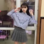 ballon sleeve bust line blouse 2994