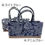 デニム素材 藍 和装バッグ