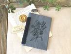 刺繍の手帳カバー(A6サイズ)グレー