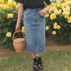 denim tight skirt