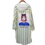 ストライププリントシャツ/グリーン (Stripe Print Shirts)