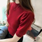 【tops】ハーフネック優雅な印象ニット着やせセーター 22620755