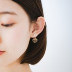 Charity : Hanging glass dome 2way pierced earrings (Champagne Series )