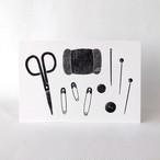 裁縫道具のポストカード