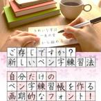 ペン字練習用フォント【3書体セット】