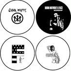 "china white / born without face / F /septic death - 1"" pin button(2.5cmバッジ)"