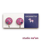 ■KASAMATSU-12 イヤリング。まる。〜ピアス変更可〜