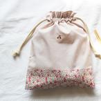 さくらんぼ刺繍の給食袋(リバティ)