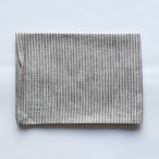 fog linen work(フォグリネンワーク)リネンキッチンクロス グレーホワイトストライプ