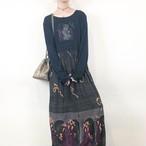 dancing printed spandex dress【163】