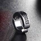 黒で刻印された雷紋(らいもん)がポイント!中華テイストのイヤリング fp-rt-53