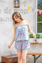 ◆Mon ange Louise◆ EMBROIDERY COMBI SHORT ビーチ オールインワン