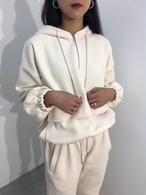 ミルクジップフードトレーナー フードトレーナー 韓国ファッション