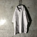 [used] white embroidery shirt