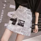 【bottoms】プリントファッション配色スカート22184162