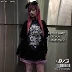 D/3 『GENk×kossy D/3 ロゴTシャツ』黒×シルバー×紫