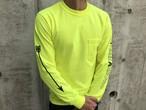 ARROWポケット付きロングTシャツ(neon yellow)